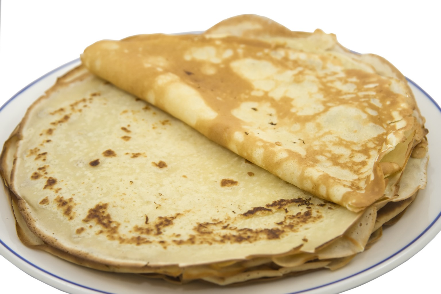 Crêpes con harina de avena sabor gofre y chocolate blanco con Thermomix® Las Palmas