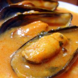Mejillones al vapor con salsa picante en el Thermomix®