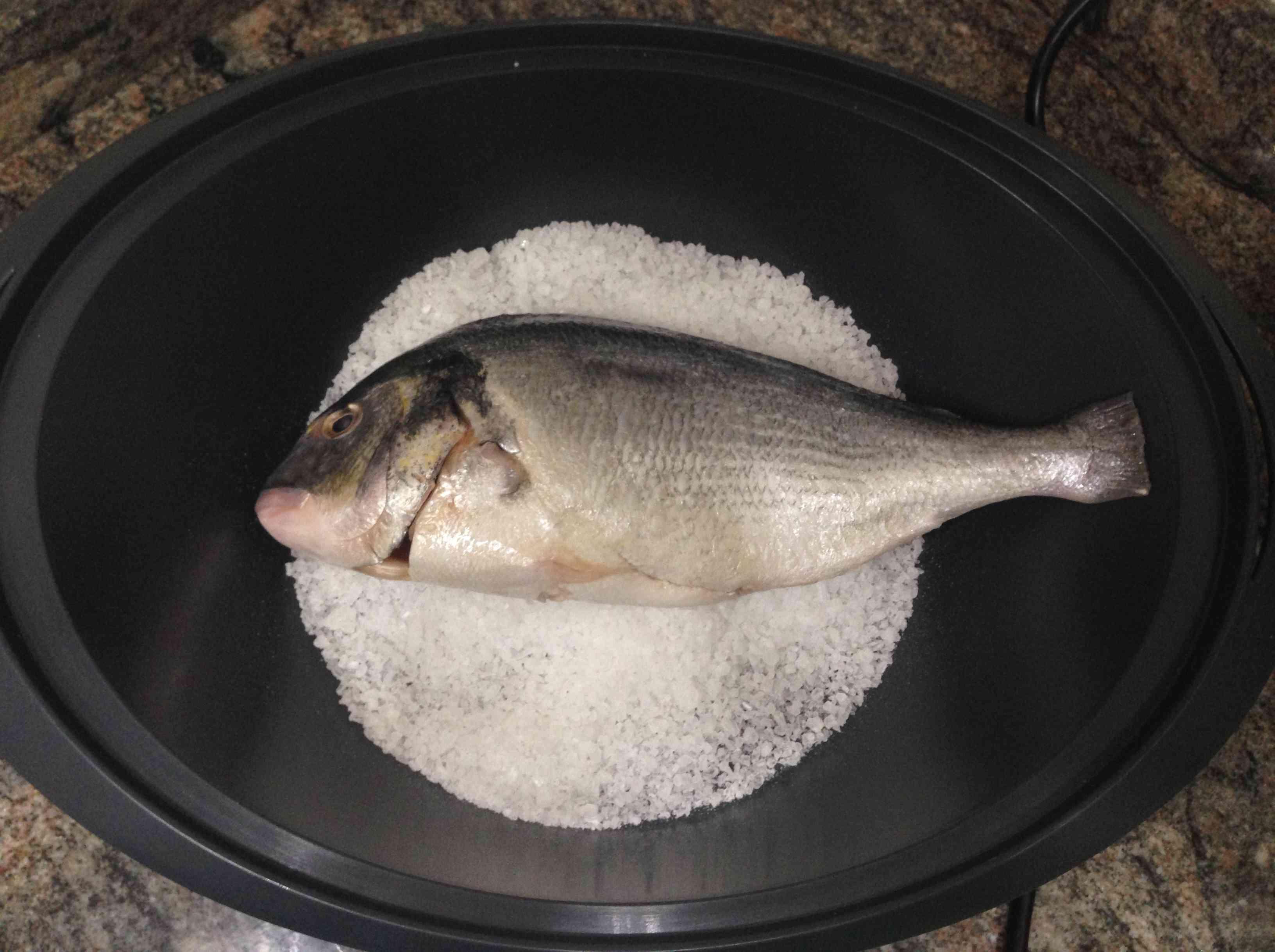 Dorada a la sal con Thermomix®