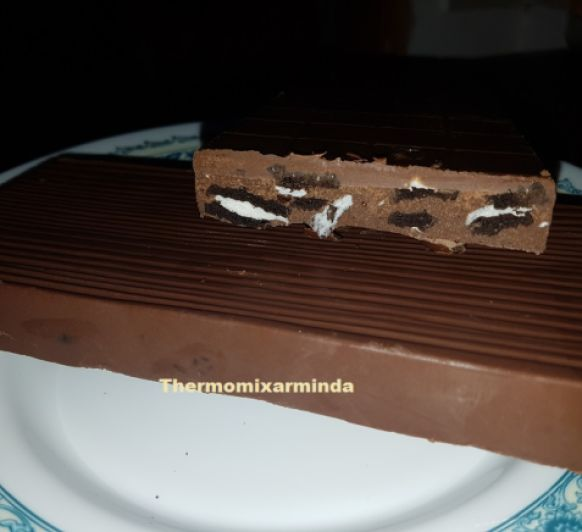 Turrón de chocolate con galletas oreo