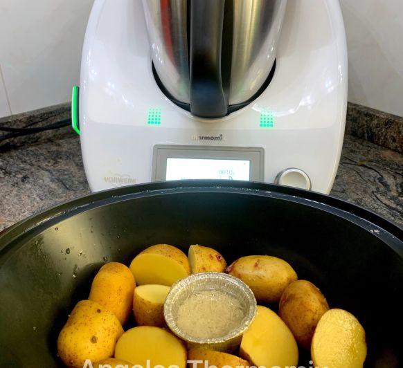 Papas y arroz al vapor con Thermomix®
