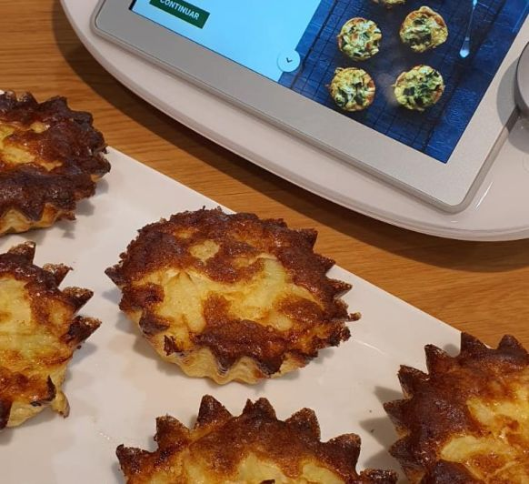 Muffins de tortilla con cebolletas
