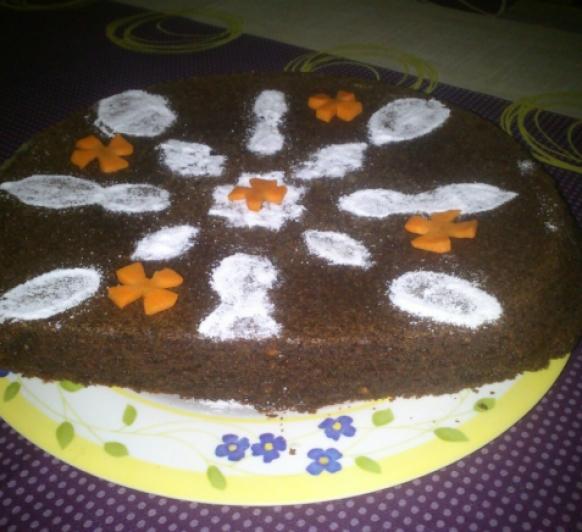 brownie de chocolate y zanahoria.