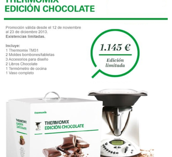Última promoción: Edición chocolate