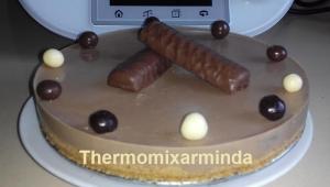 Tarta de chocolatinas TWIX